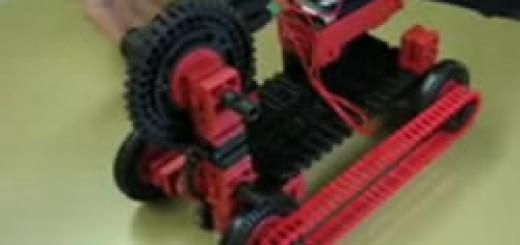 Slika vozila narejenega z gradniki fischertechnik